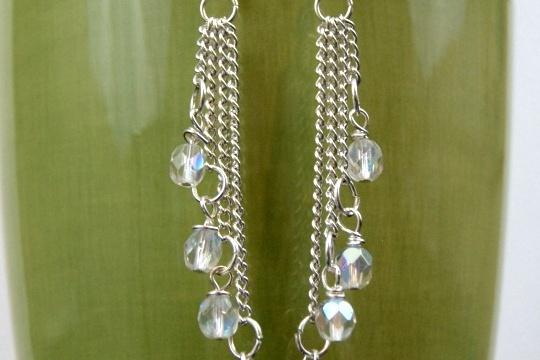 Easy cascade dangle earrings