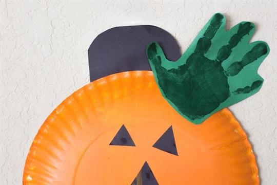 Halloween Craft Paper Plate Jack Lantern Pumpkin Craft