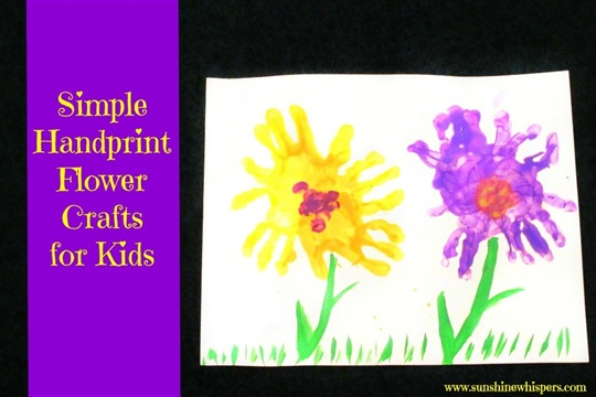 Simple Handprint Flower Crafts for Kids