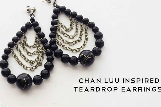 Diy: chan luu inspired teardrop earrings