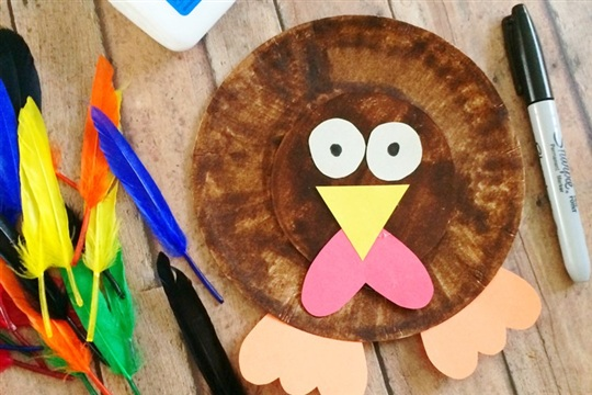 Easy Paper Plate Turkey Craft For Kids