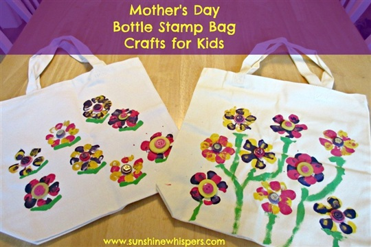 Mother's Day Crafts for Kids Bottle Stamp Bag