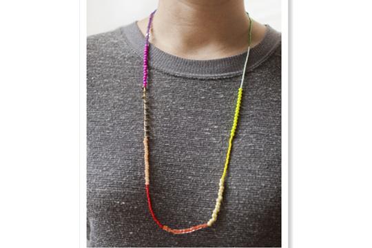 St. patrick¡¯s day rainbow necklace