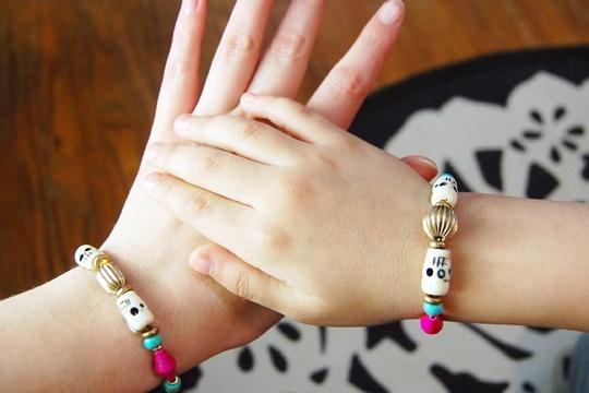 Vanessa mooney inspired twist of fate skull bracelet