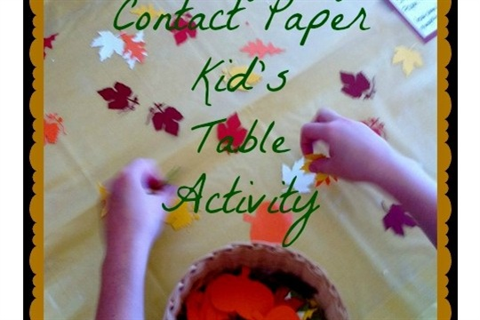 Thanksgiving Crafts Contact Paper Fun