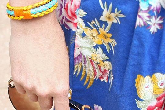DIY mixed leather bracelet