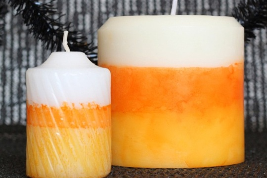 Fall Candles DIY Candy Corn Candles