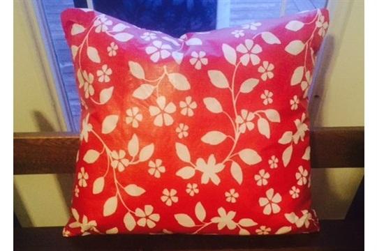 Vinyl Tablecloth Envelope Pillow