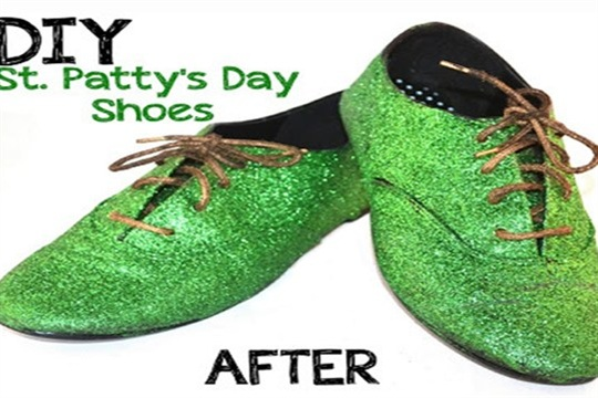 How to Make St. Patricks Day Shoes