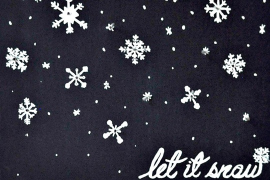 Let It Snow Lighted Snowflake Canvas
