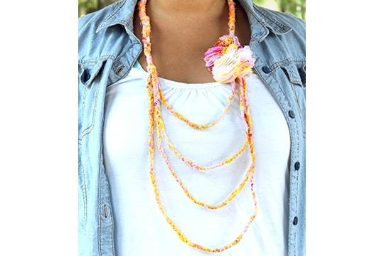 Summer of love tie-dye braided necklace