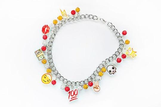 Emoji luv necklace  DIY