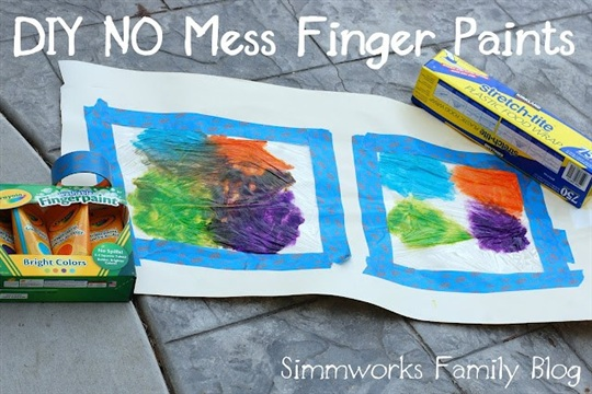 DIY No Mess Finger Paint Craft