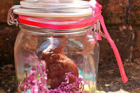 Easy Easter Bunny Jar Craft