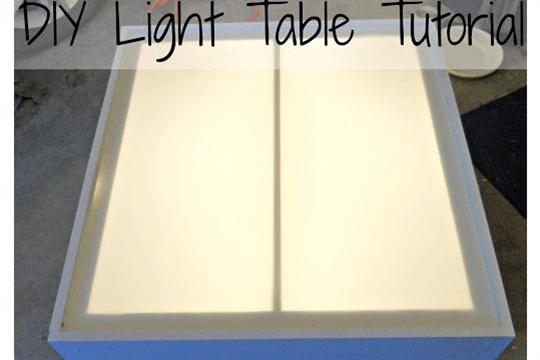 DIY Light Table Tutorial