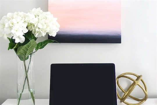 DIY Ombre Abstract Painting