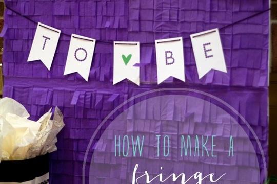 Get Crafty! How to Make a Fringe Backdrop
