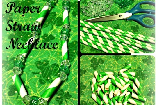 Paper Straws Necklace DIY
