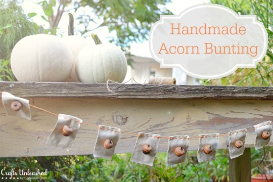 Acorn Crafts A Rustic Bunting for Fall