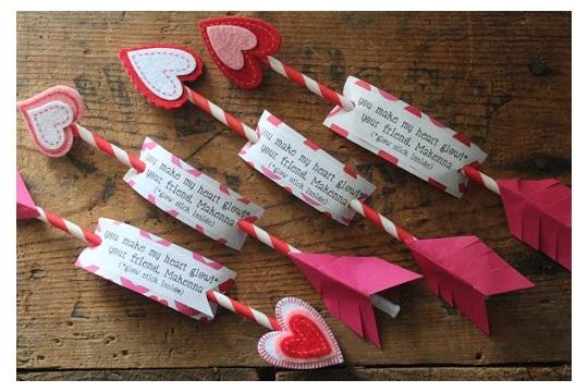 Do! valentine diy glowing cupid's arrows