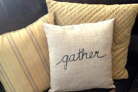 Thanksgiving Inspired Pillow Tutorial