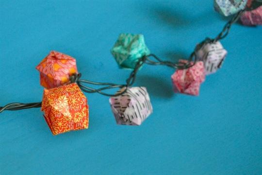 Origami Balloon Lantern Light String Tutorial