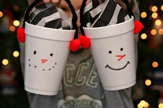 Snowman Treat Cups