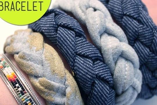 DIY tutorial braided fabric bracelet ¡ª sew DIY