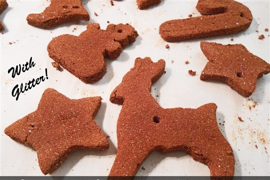 How To Make Cinnamon Christmas Ornaments ... with Glitter!