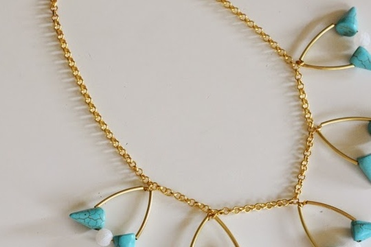 Turquoise necklace DIY