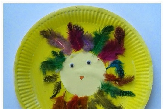 Paper plate crafts for kids Crazy Chicks