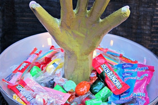 Spooky Monster Hand Candy Bowl