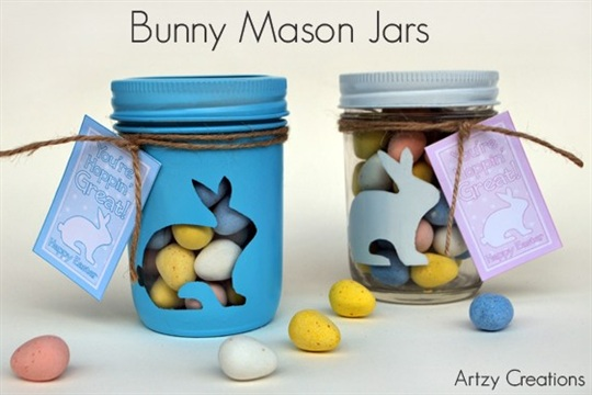 Bunny Mason Gift Jars with Printables