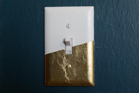 DIY Gold Leaf Light Switch Cover