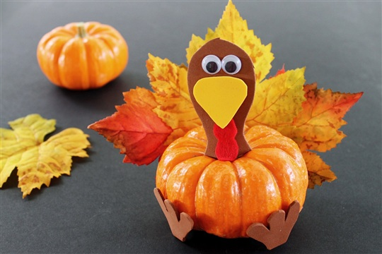 Pumpkin Turkey Thanksgiving Craft for Kids