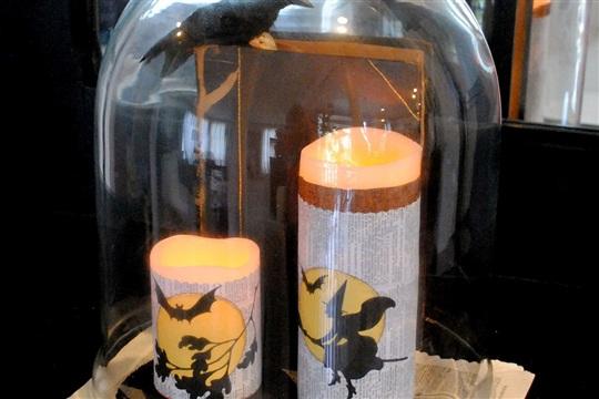 Make Halloween Candle Wraps