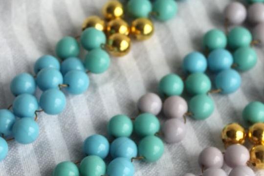 DIY _ woven bead bracelet