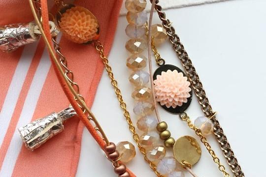 DIY - multi strand charm bracelet