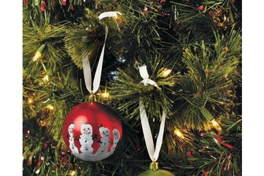 Hand Print christmas Ornaments