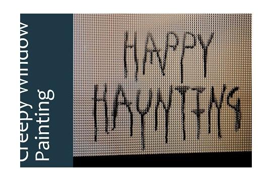 Creepy Window Painting Happy Halloween!