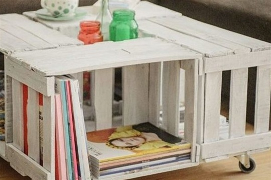 DIY tutorial Upcycle Wine Crates Into a Coffee Table