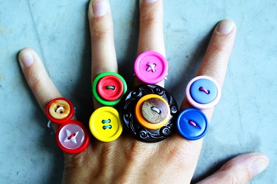 DIY button rings