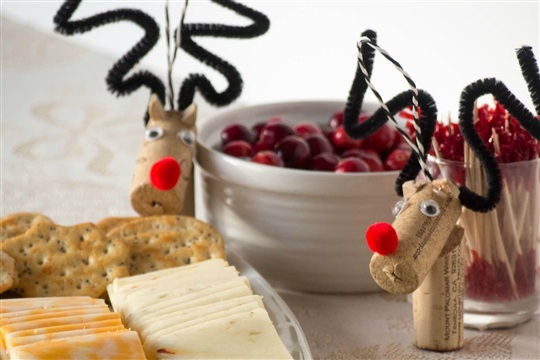 Wine Cork Reindeer Ornaments