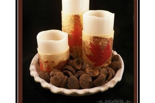DIY Yarn Wrapped Candles