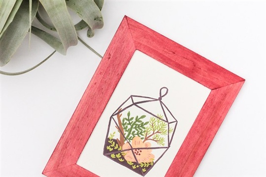 DIY Dyed Picture Frames