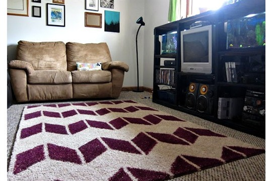 Fluffy Painted Rug Tutorial