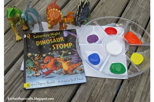 Quick Pick & Project of the Week Dinosaur Stomp Painting