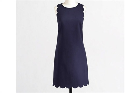 An awesome knock off DIY J.Crew Factory scalloped shift dress tutorial!
