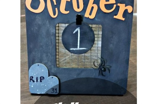 Halloween Decorations Easy Countdown Frame