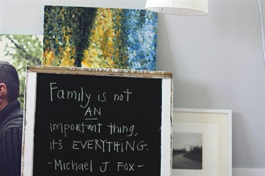 DIY Make A Simple Chalk Board Frame